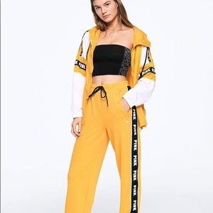 PINK Victoria's Secret Yellow Track Pants